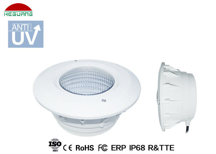 White Swimming Pool Light Housing , Pool Light Niche Cover ABS Plastic Body